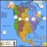Time Zones Of North America | Mapsgeo Earth Mapping | Time Zone   Printable North America Time Zone Map