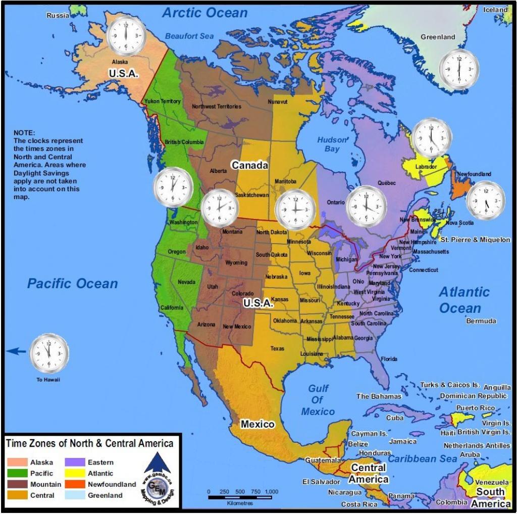 Time Zones Of North America | Mapsgeo Earth Mapping | Time Zone - Printable North America Time Zone Map