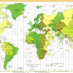 Time Zones Of The World Map (Large Version)   Printable World Time Zone Map