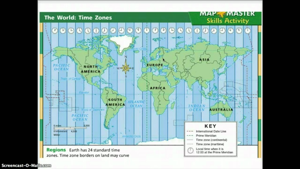 Time Zones - Youtube - Printable Time Zone Map For Kids