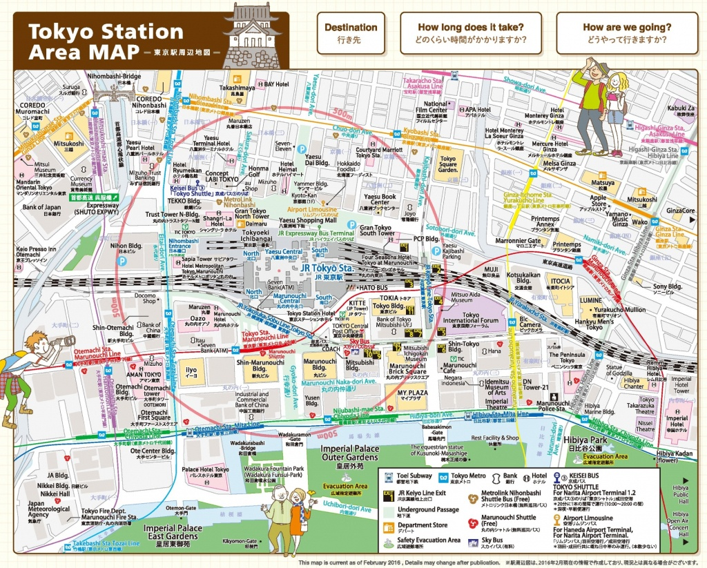 Tokyo Station Area Map - Printable Map Of Tokyo