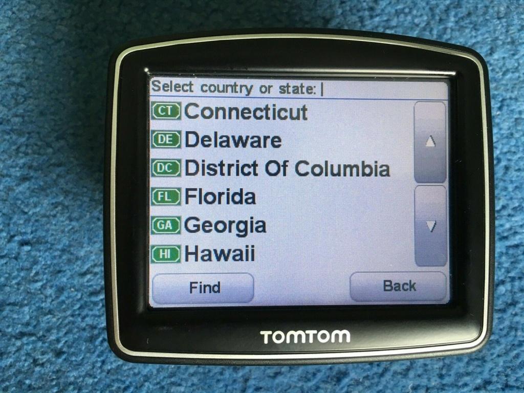 Tomtom One Iq Gps Sat Nav Uk & Usa Maps United States Of America | Ebay - Sat Nav With Florida Maps