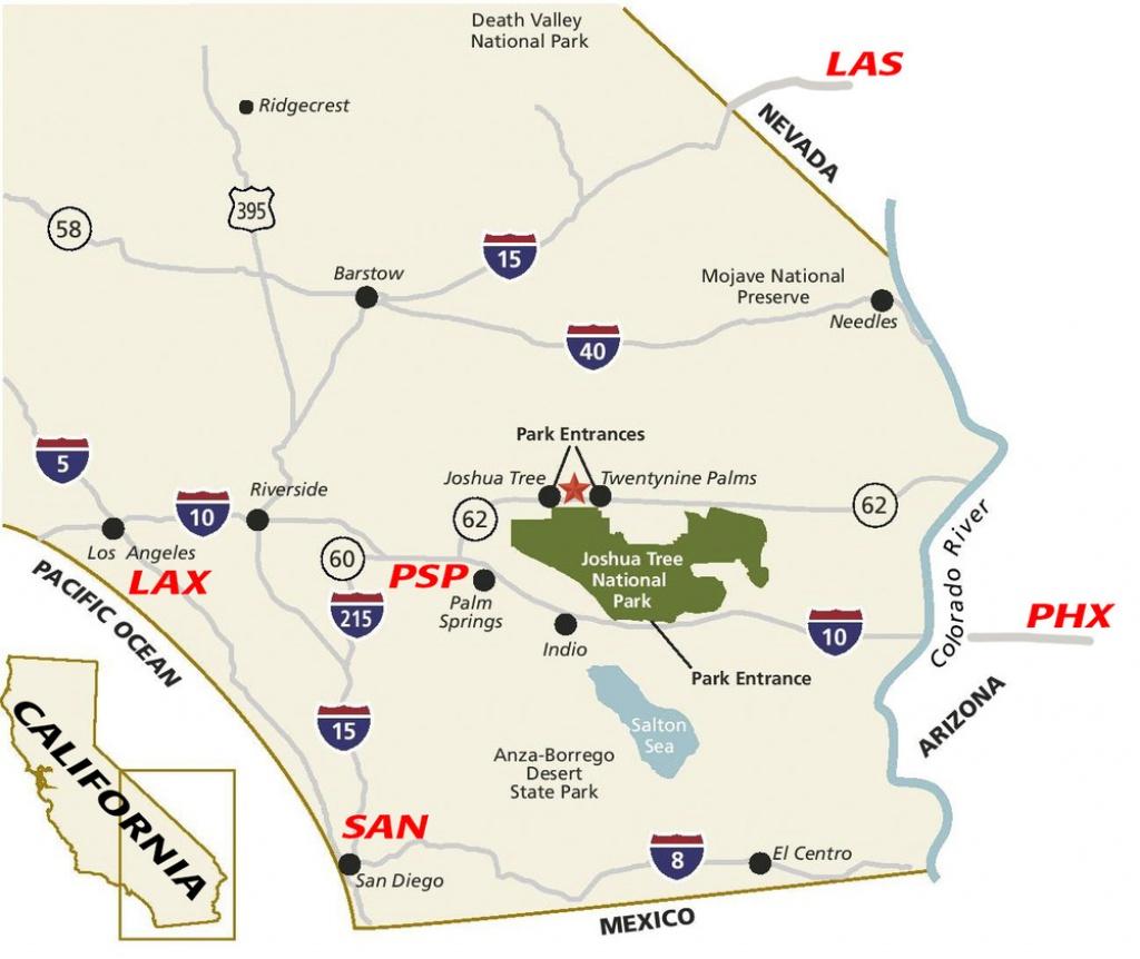 Top 10 Tips For Visiting Joshua Tree — Joshua Tree Visitors Guide - Joshua Tree California Map