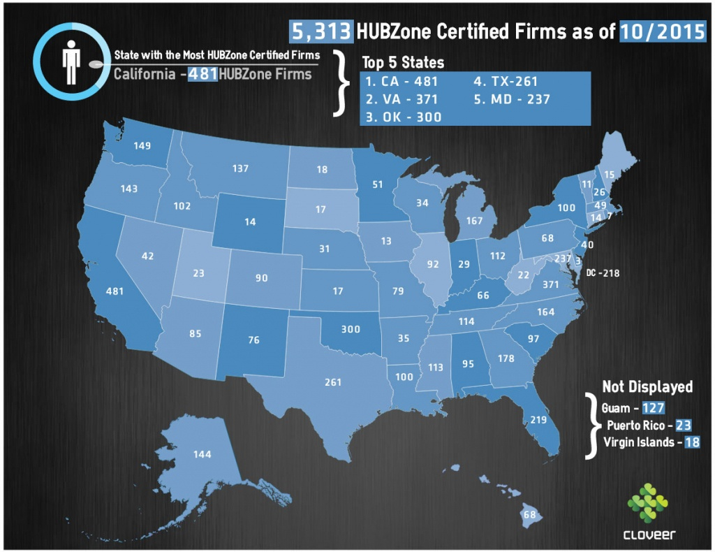 Top 5 States With Sba Hubzone Businesses – 8A Certification And - Hubzone Map California