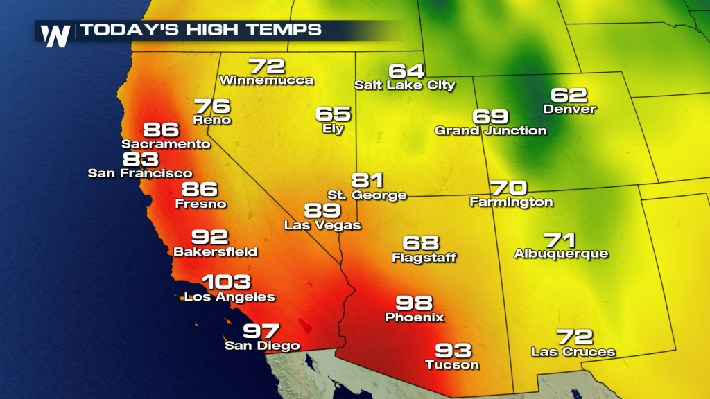 Top Weather Stories For Tuesday, October 24, 2017 - Weathernation - California Temperature Map Today