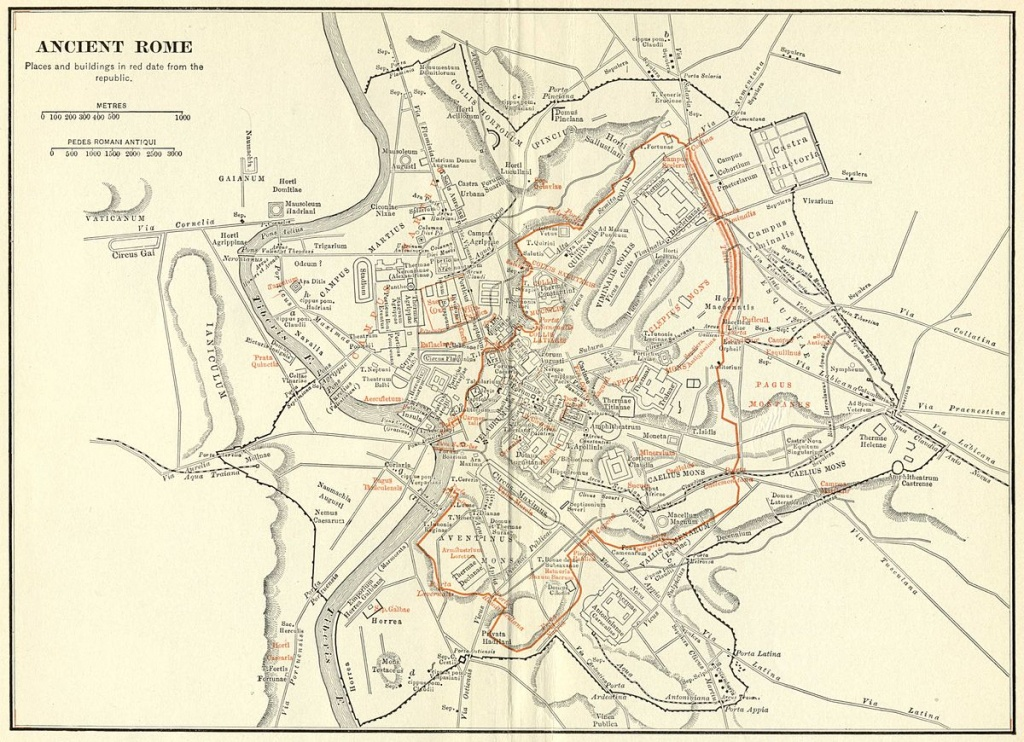 Topography Of Ancient Rome - Wikipedia - Printable Map Of Ancient Rome