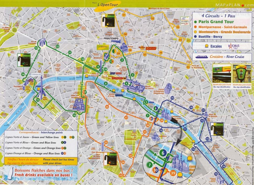 Tourist Attraction Map | Vacations - Paris | Paris Map, Paris - Printable Walking Map Of Paris
