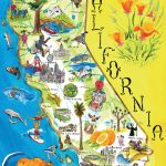 Tourist Illustrated Map Of California State | California State | Usa   Illustrated Map Of California