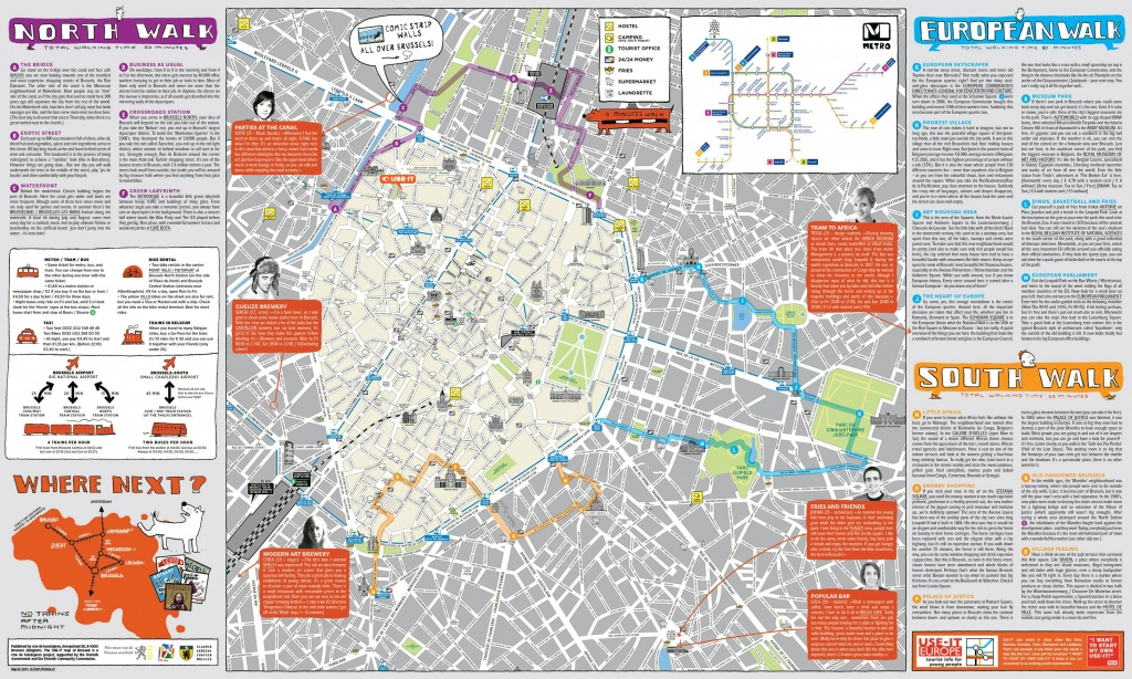 Tourist Map Brussels | City Maps - Tourist Map Of Brussels Printable
