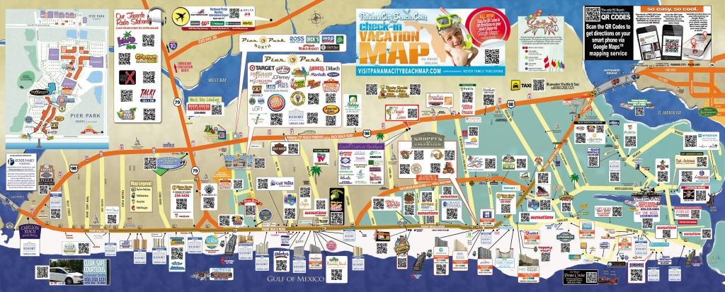 Tourist Map Of Panama City Beach   To The Beach!   Panama City Beach - Map Of Panama City Beach Florida