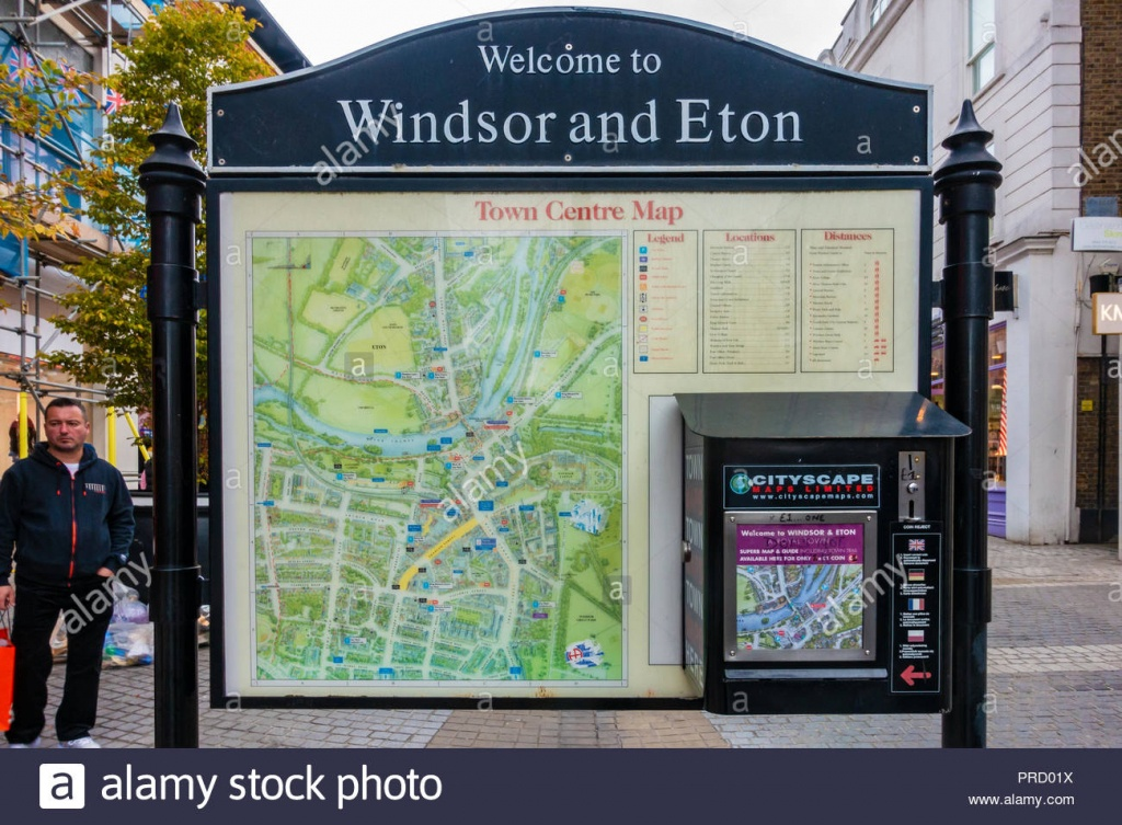 Town Centre Map Stock Photos & Town Centre Map Stock Images - Alamy - Printable Street Map Of Harrogate Town Centre