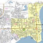Town Limits & Map   Town Of Orange Park   Florida Orange Groves Map