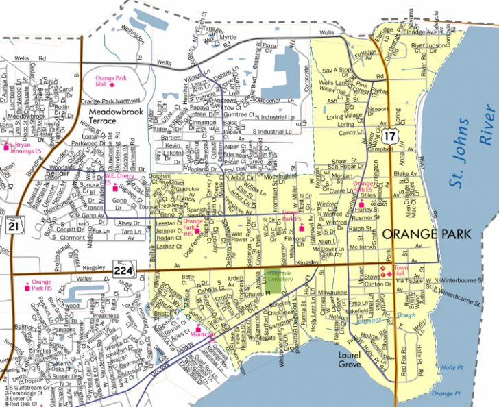 Florida Orange Groves Map