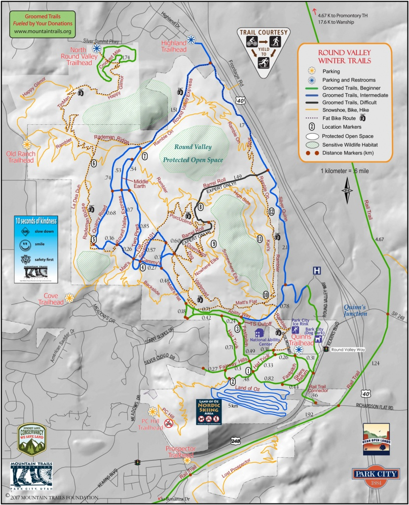 Trail System - Printable Hiking Maps