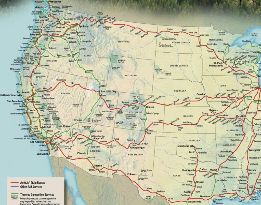 Train Links California State Map California Zephyr Route Map Amtrak - Amtrak Route Map California