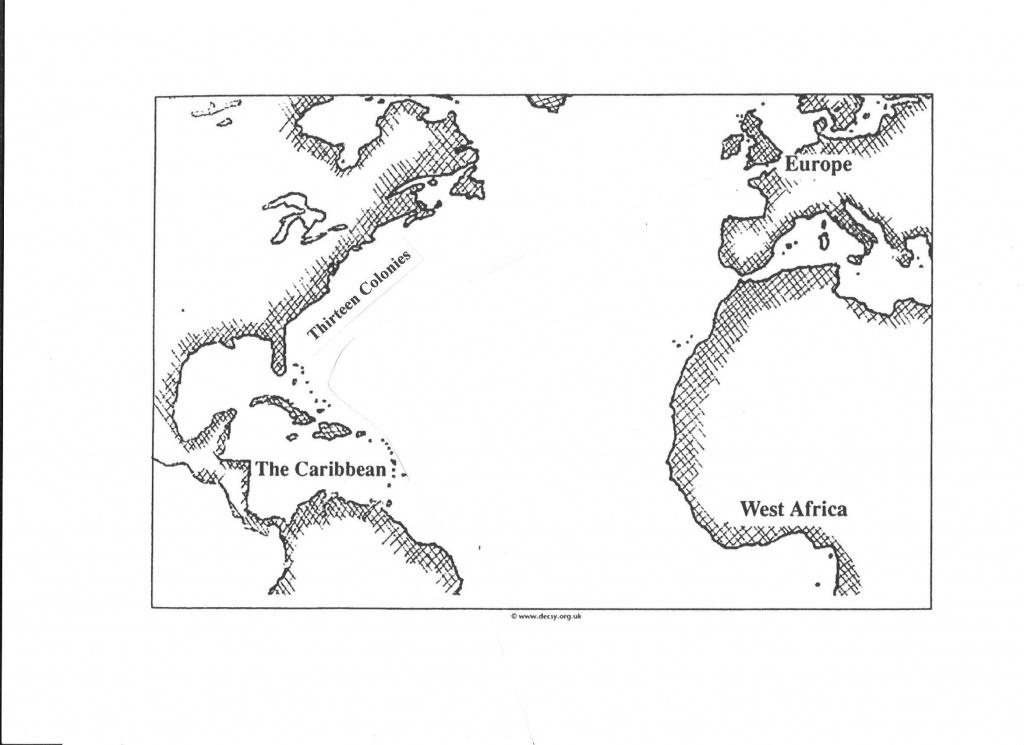 Transatlantic Slave Trade/triangular Trade Map | Geography Maps - Triangular Trade Map Printable