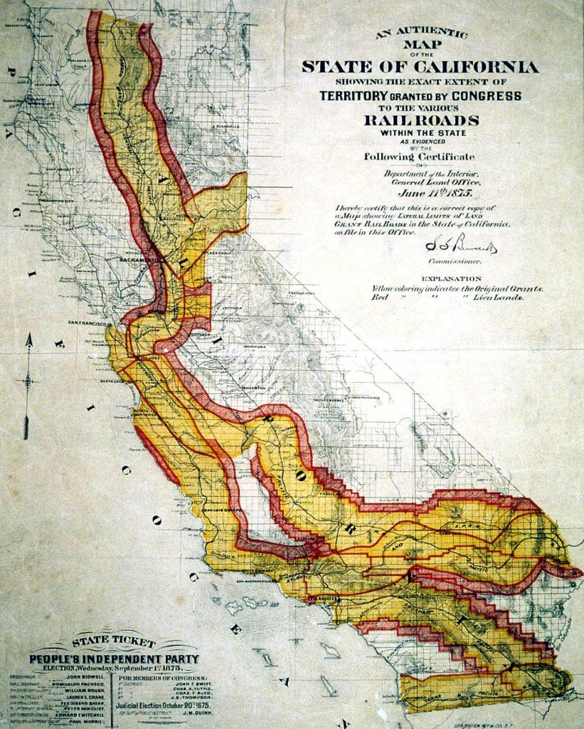 Transcontinental Railroad Maps - California Rail Pass Map