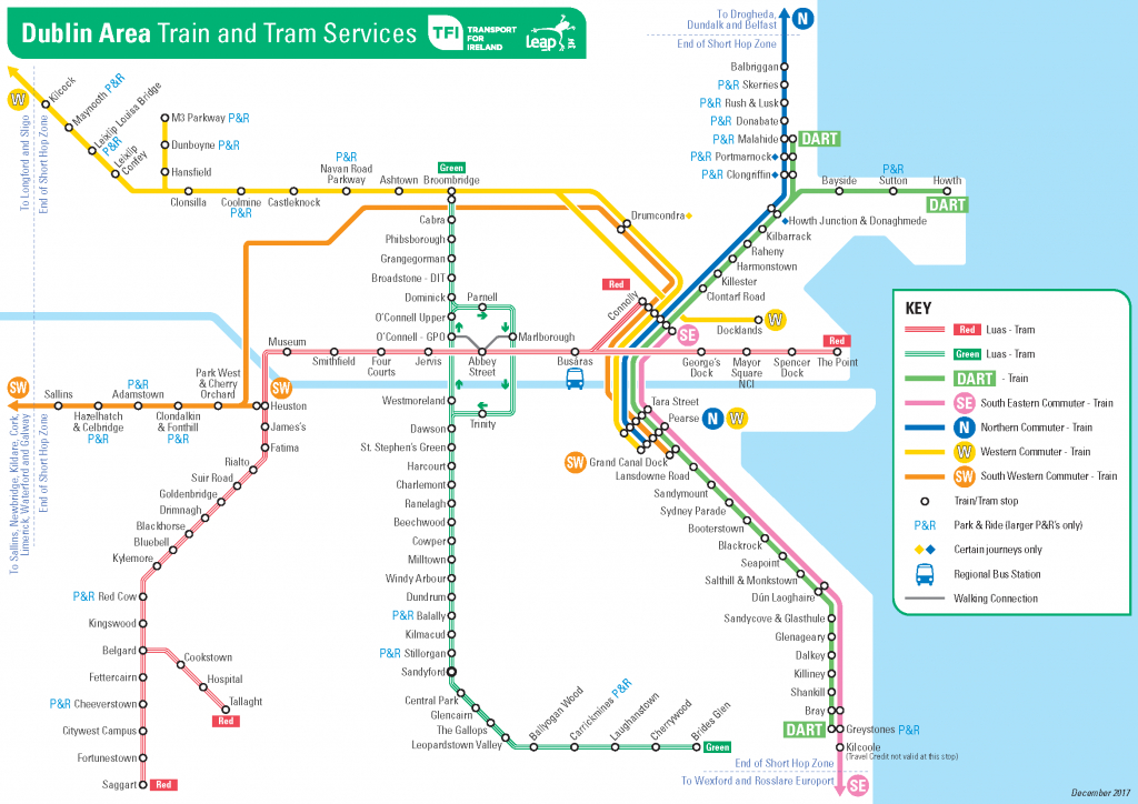 Transport For Ireland - Maps Of Public Transport Services - - Printable Route Maps