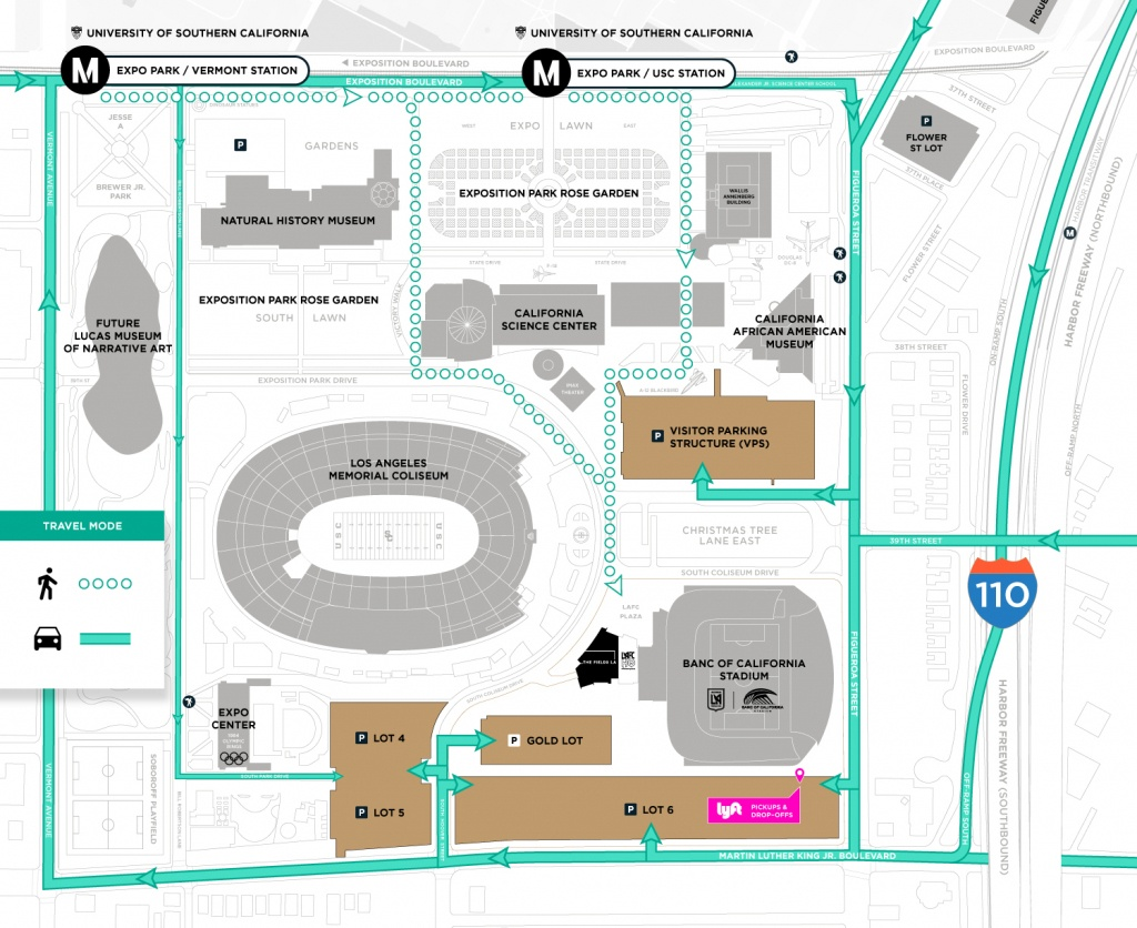Transportation | Los Angeles Football Club - Banc Of California Stadium Map