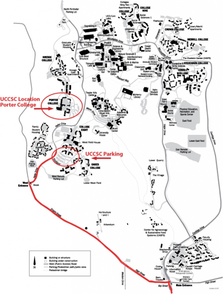 Travel To Campus - University Of California Santa Cruz Campus Map