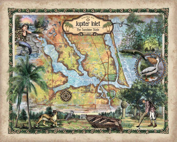Jupiter Inlet Florida Map