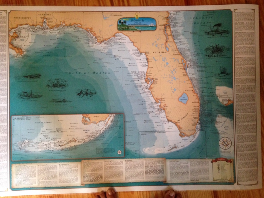 Treasure Coast Ships Map   Jacqui Thurlow-Lippisch - Treasure Coast Florida Map