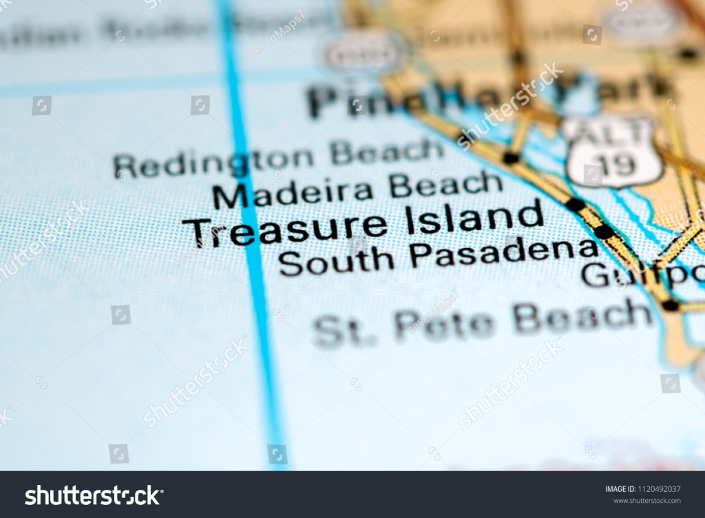 Treasure Island Florida Usa On Map Stock Photo (Edit Now) 1120492037 - Treasure Island Florida Map