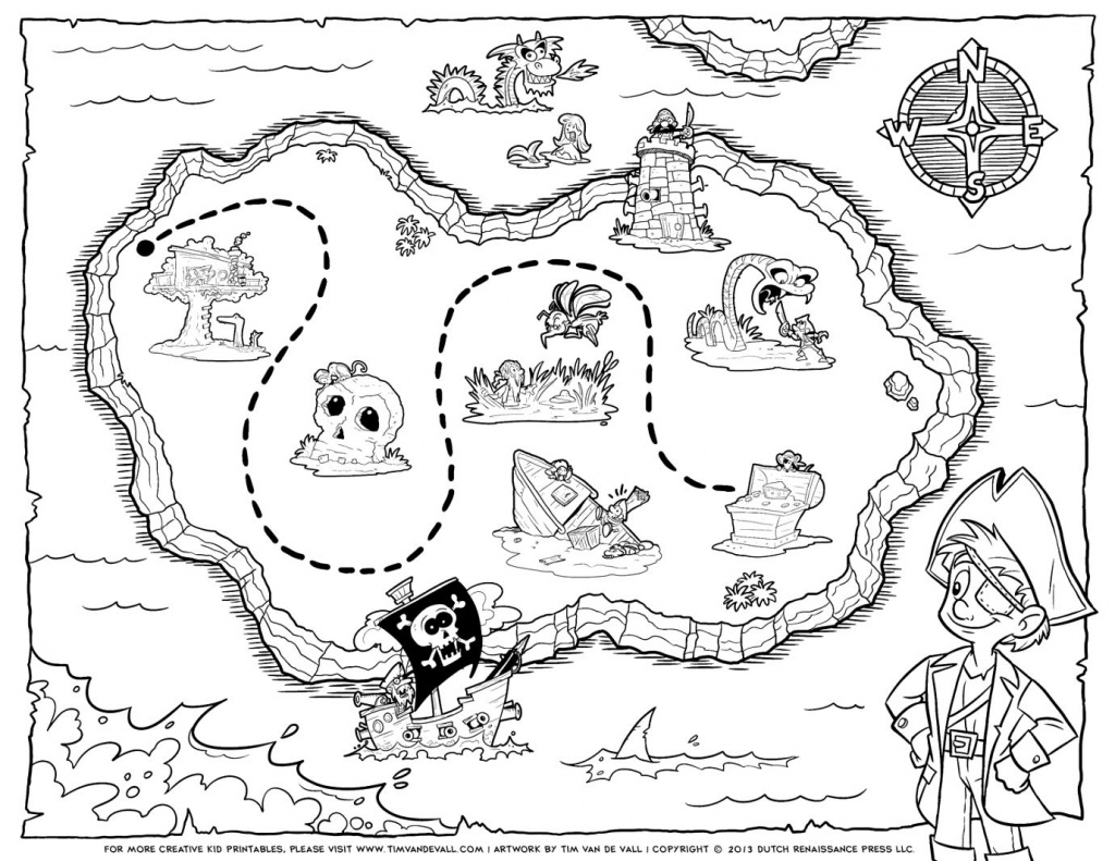 Treasure Map Coloring Pages Pirate Treasure Map Coloring Pages Free - Pirate Treasure Map Printable