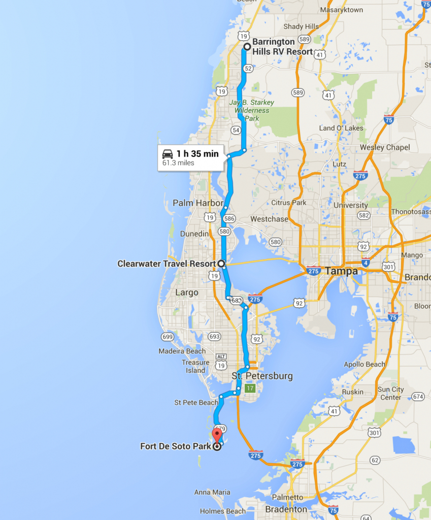 Trials And Tribulations Of Getting A Spot At Fort De Soto Park - Terra Verde Florida Map