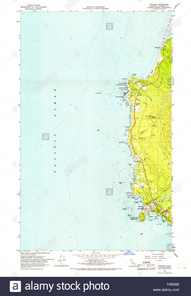 Trinidad California Cut Out Stock Images & Pictures - Alamy - Trinidad California Map