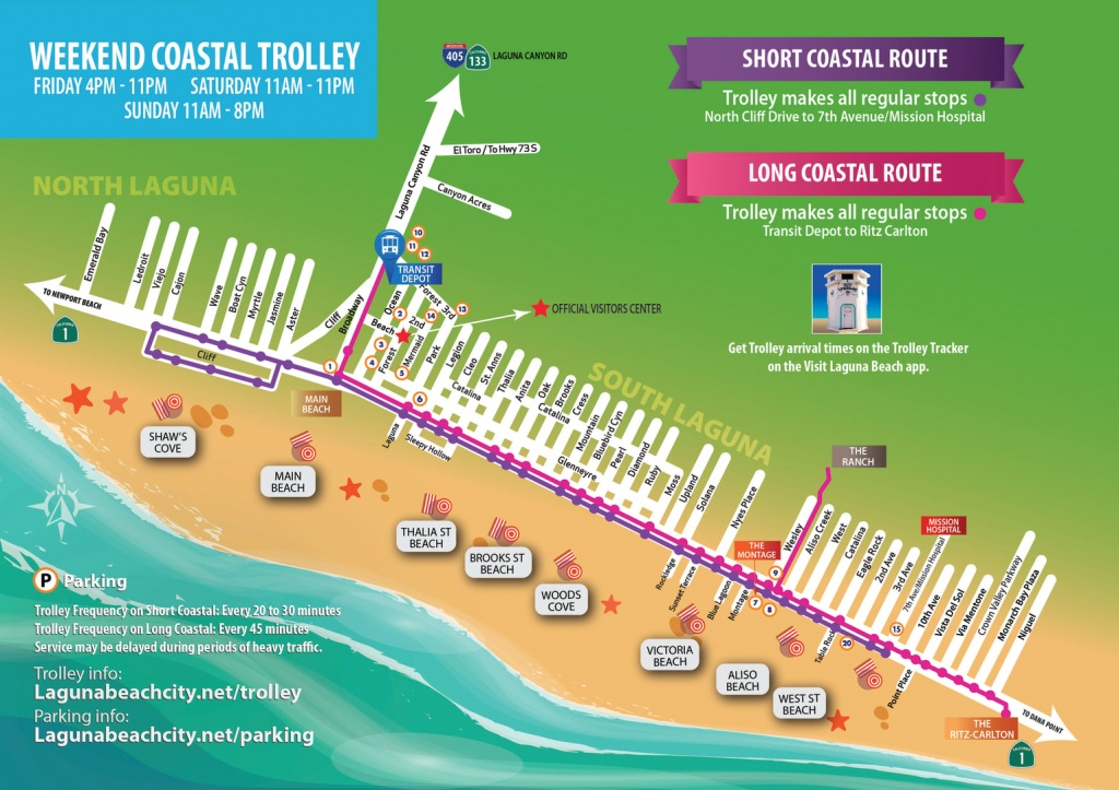 Trolley Information - Laguna Beach Chamber Of Commerce , Ca - Laguna Beach California Map