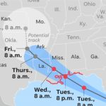 Tropical Storm Gordon Takes Aim At Gulf Coast After Battering Florida   Map Of Florida Panhandle Gulf Coast