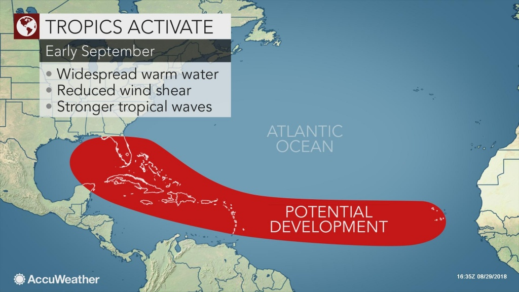 Tropical Threat May Develop Close To Florida While Eastern Atlantic - Florida Weather Map In Motion