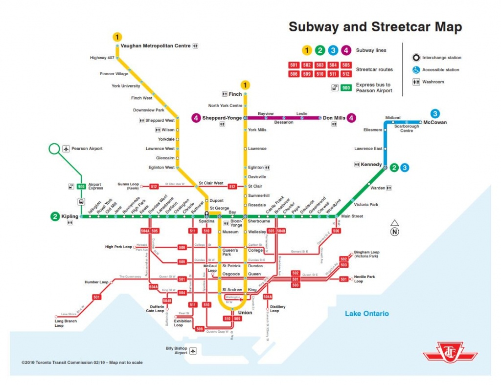 """Ttc Design On Twitter: """"a Printable Version Of Our New Subway And - Toronto Subway Map Printable"""