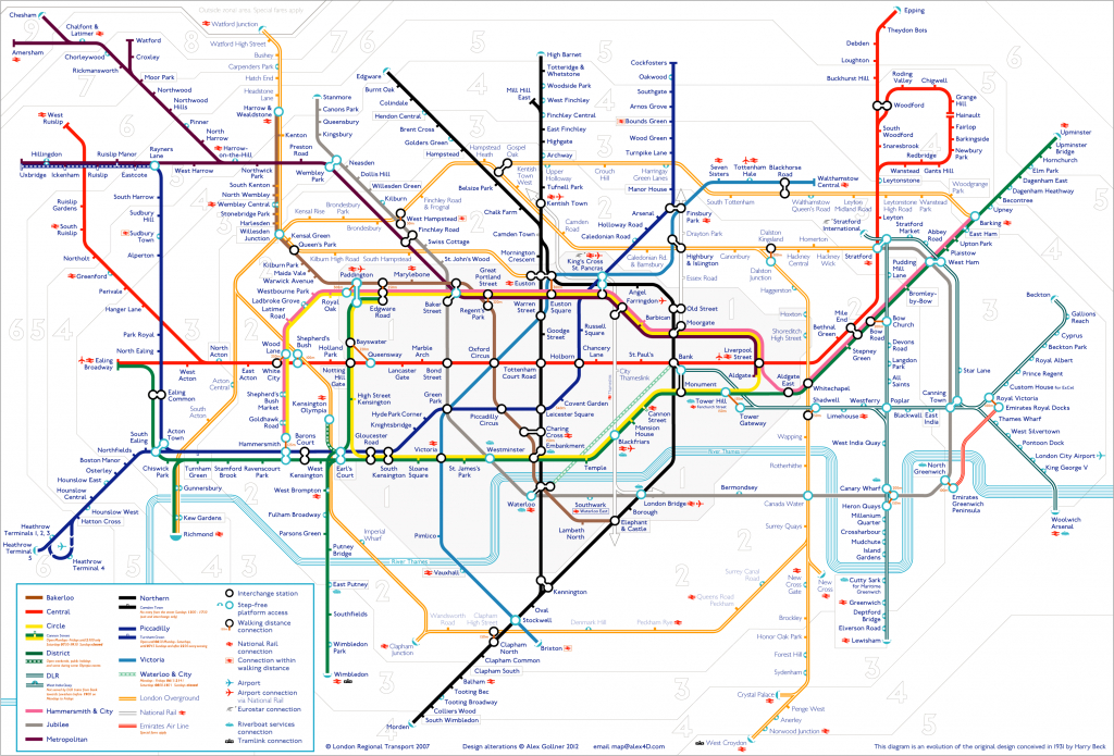 Tube Map | Alex4D Old Blog - Printable Underground Map