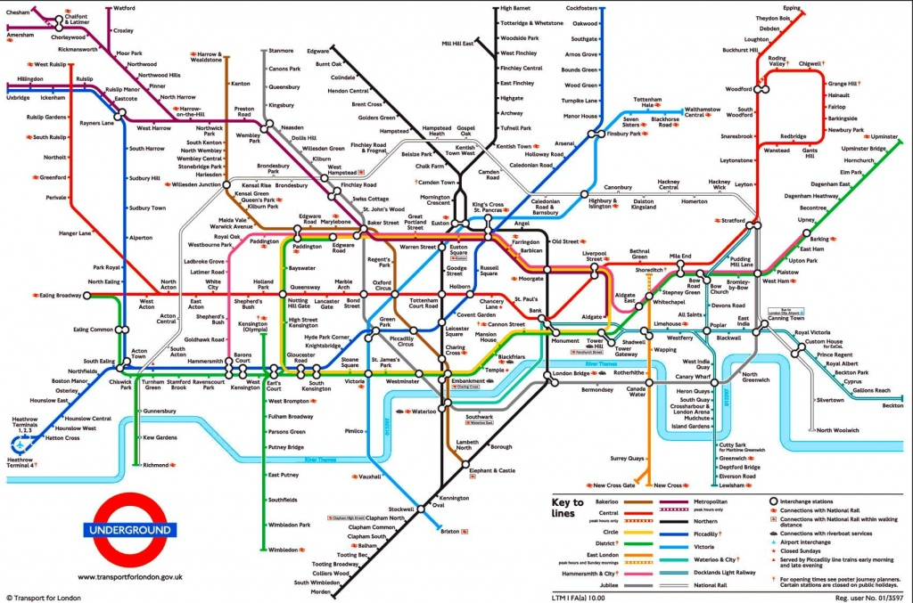 Tube Map, London Underground | L D N In 2019 | London Tube Map - Printable Map Of The London Underground