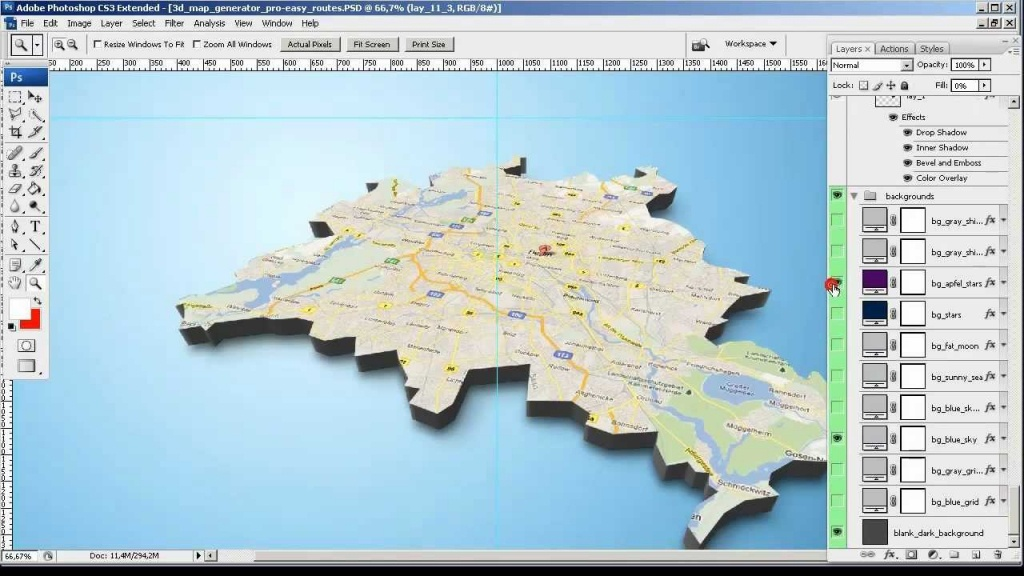 Tutorial - From Google Screenshot To 3D Map - 3D Map Generator Pro - Printable Map Maker