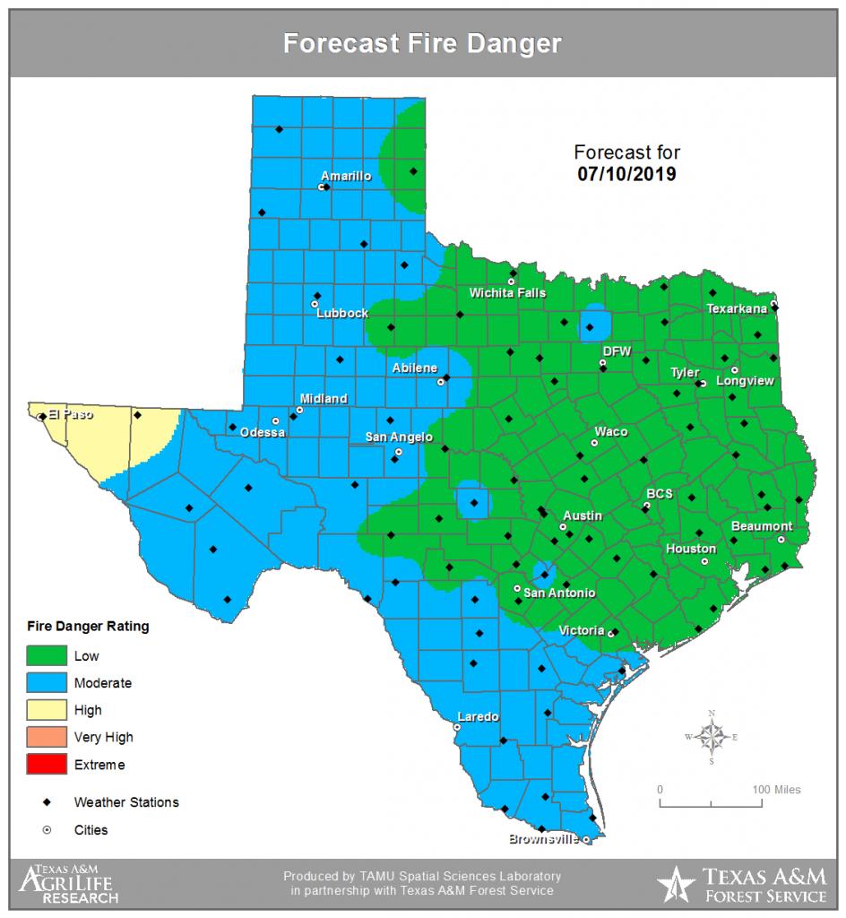 Twc | Texas Fire Danger (Tfd) - Texas Fire Map