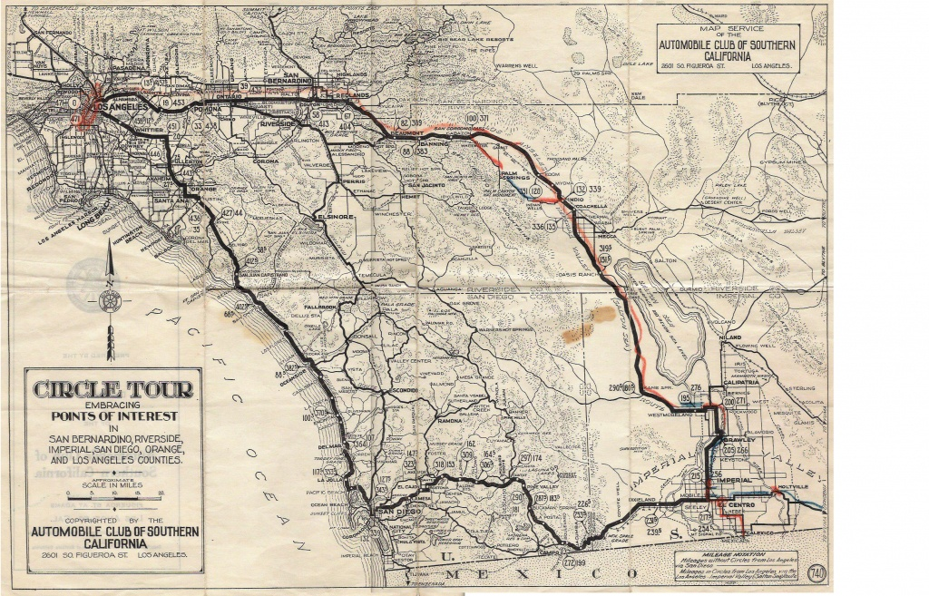U.s. 395 - San Diego Original & Final Routes - Route 395 California Map