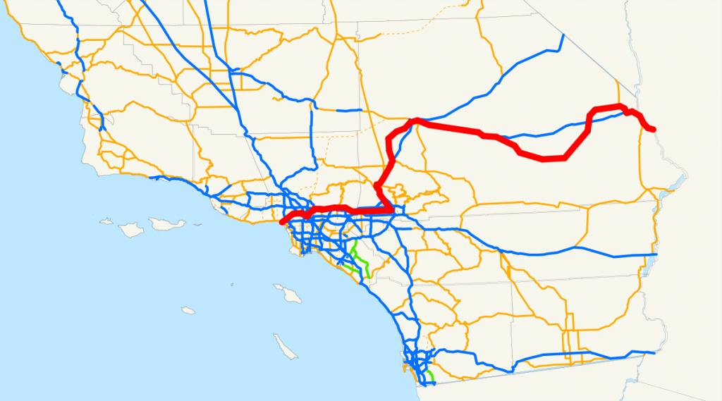 U.s. Route 66 In California - Wikipedia - Vernon California Map