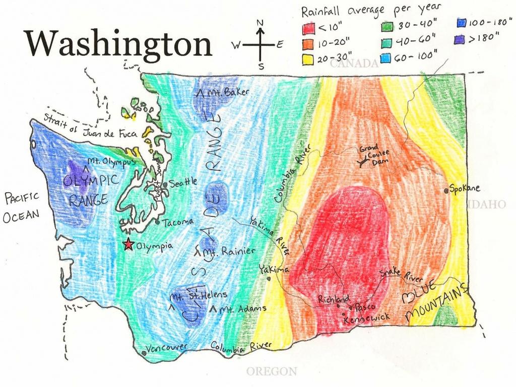 U.s. State Maps | State Studies | Washington State Map, State Map - Printable Map Of Washington State