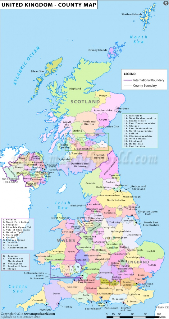 Uk Counties Map | Map Of Counties In Uk | List Of Counties In United - Printable Map Of Uk Cities And Counties