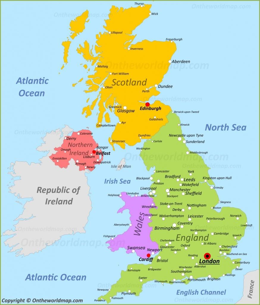 Uk Maps   Maps Of United Kingdom - Printable Map Of England