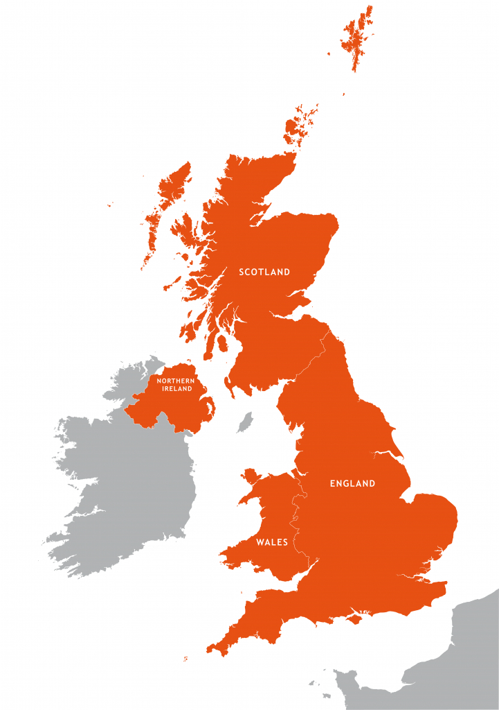 Uk Outline Map - Royalty Free Editable Vector Map - Maproom - Free Printable Map Of Uk And Ireland