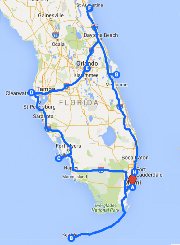 Uncover The Perfect Florida Road Trip - Florida Road Trip Trip Planner Map