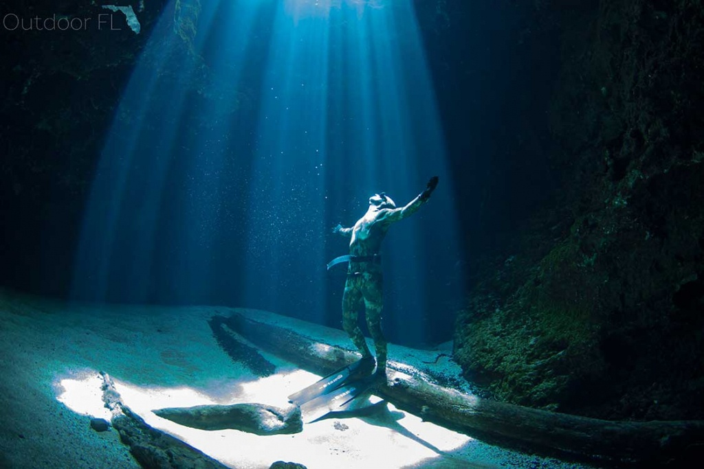 Unique Florida Springs Photography, Interactive Map, Weather & The - Florida Springs Diving Map