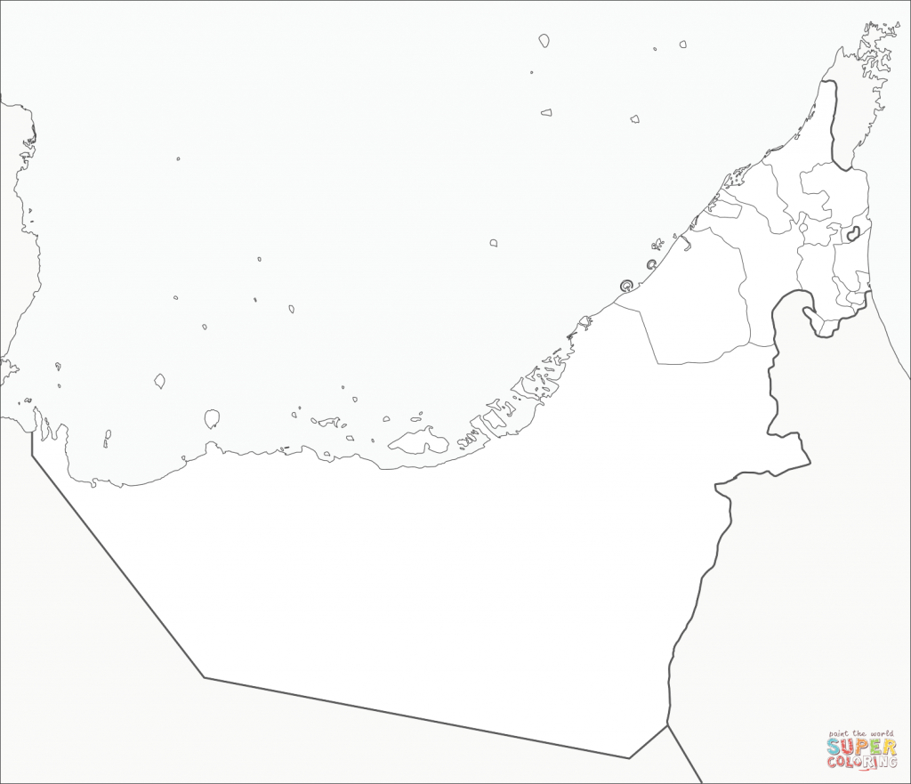 United Arab Emirates Map Coloring Page   Free Printable Coloring Pages - Outline Map Of Uae Printable