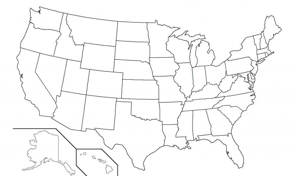 United States Black And White Outline Map Fresh Blank Usa View Of 13 - Map Of United States Without State Names Printable