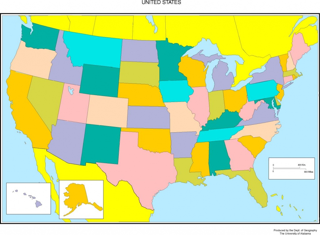 United States Blank Map - Blank Us Political Map Printable