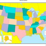 United States Blank Map   United States Color Map Printable